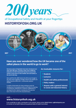 the history of occupational health and Timeline of osha's 40 year history the occupational safety and health administration was established in 1971 since then, osha and our state partners, coupled with the efforts of employers, safety and health professionals, unions and advocates, have had a dramatic effect on workplace safety.